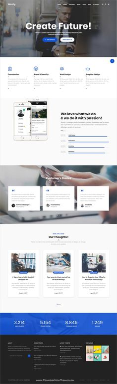 Westy is clean, stylish and modern design responsive multipurpose #WordPress theme for #business agency #website with 60+ niche homepage layouts to live preview & download click on image or Visit