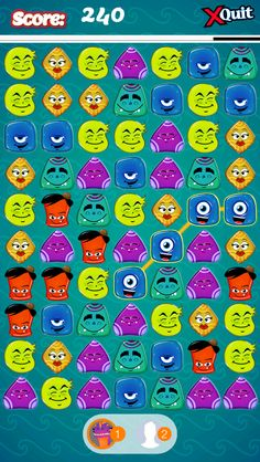 App Shopper: Jelly Creatures Match 3 Mania - Brilliant Multiplayer where you Draw Lines, Connect & Link Interlocked Colorful Monsters (Games)