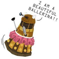 Dalek Ballerina. Dr Who Humour.
