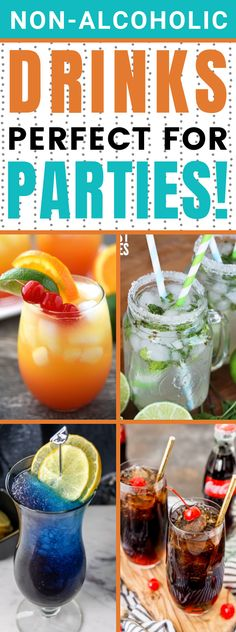 Non-Alcoholic Drink Recipes to Refresh Your Summer - Easy to make drinks and easy drink recipes. #summer #recipes #punch #nonalcoholic