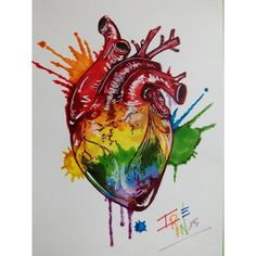 Heart images art group with items Lesbian Pride, Lesbian Love, Pride Tattoo, Heart Artwork, Heart Painting, Rainbow Aesthetic, Wow Art, Lgbt Community, Illustration