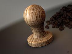 Espresso tamper Cafe Barista, Coffee Cafe, Espresso Coffee, Best Coffee Mugs, Great Coffee, Cappuccino Tassen, Coffee Tamper, Coffee Shot, Coffee Guide