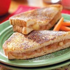 Apple pie sandwiches... its like, apple pie and french toast rolled into one. I enjoy these sandwiches for breakfast and dessert all year long,