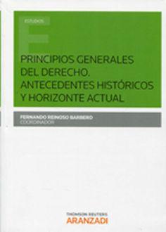 Principios generales del derecho : antecedentes históricos y horizonte actual.  Aranzadi, 2014.