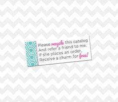 Recycle Catalog Label by BlueEyedDesigns1 on Etsy