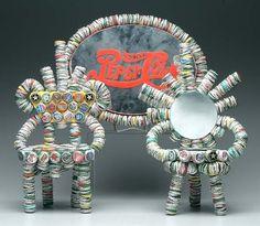 Rick Ladd bottle-cap folk art: