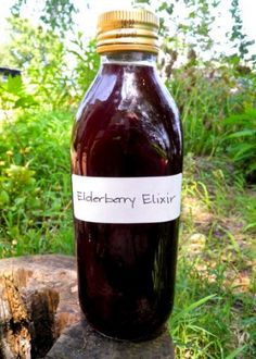 Elderberry Elixer: Elderberry is the number one herb to reach for to both prevent the flu from entering your house and treating it if you do get it. Containing high amounts of vitamins A and C, it's good to have around in your wintertime arsenal of healing herbal remedies.