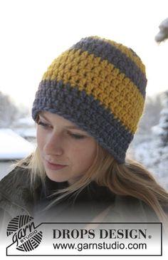 Bonnet DROPS au crochet, en Eskimo.