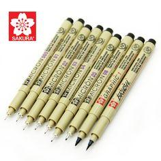 1 pz Sakura Pigma Micron Ago per il disegno schizzo del fumetto d'archivio penna gel inchiostro Stationey Animazione Arte forniture