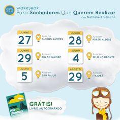 """Tour da sonhadora e realizadora, Nathalie Trutmann, ganha mais duas cidades em seu roteiro: Porto Alegre e São Paulo A Easyaula realiza, nos meses de Junho e Julho, o tour com a Chief Magic Officer da FIAP, Nathalie Trutmann. Até o momento, 8 cidades já foram confirmadas: Brasília, Goiânia, Rio de Janeiro, Belo Horizonte, São...<br /><a class=""""more-link"""" href=""""https://catracalivre.com.br/geral/rede/barato/workshop-para-sonhadores-que-querem-realizar/"""">Continue lendo »</a>"""