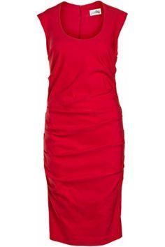Joseph Ribkoff Red sheath dress.