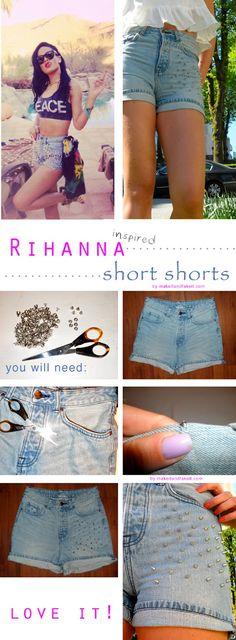 <3  the shorts ---> Rihanna style