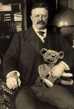Theodore Roosevelt_ the Teddy bear was created to honor him, President Teddy Roosevelt