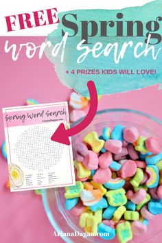 Free Spring Word Search printable by ariana dagan Fun Projects For Kids, Outdoor Activities For Kids, Spring Activities, Easter Crafts For Kids, Stem Activities, Toddler Activities, Games For Kids, Easter Ideas, Family Activities
