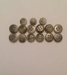 Lot of 15 Two Tone Plastic 4 Hole Buttons Gray Ivory 12 Are 3 4 in 3 Are 1 2 In   eBay