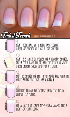DIY Nails: Faded French