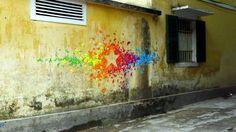 Origami graffiti - Mademoiselle Maurice