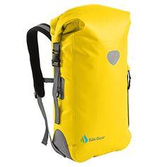 c139ea6f8af Amazon.com   BackSak Waterproof Backpack  500D PVC, 35L Black with Welded  Seams, Reflective Trim, Padded Back Support, Cushioned Adjustable Straps,  ...