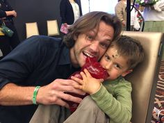 """Misha Collins on Twitter: """"My son was getting a little hyper and destructive, so this sociopath fed him the worlds largest gummy bear. DCCon 2016"""