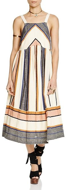 Loving this multi colored tank dress for the summer. Free People Bloom Midi Dress