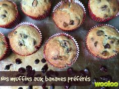 14 recettes pour vos bananes trop mûres - Wooloo Muffin Recipes, Coffee Cake, Granola, Biscuits, Bakery, Cupcakes, Pumpkin, Banana, Muesli