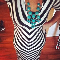 New @Alloy dress with a @Charlotte Russe bubble necklace! Thrifty and fabulous! #fashion #summer