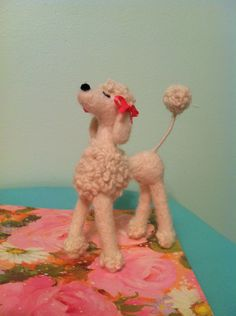 Needle Felted Snooty Poodle, White. $24.00, via Etsy.