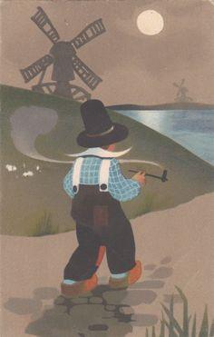 AK Künstlerkarte Meissner u. Buch S. 2380 Fritz Baumgarten Junge Windmühle 1921 | eBay