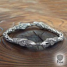 Viking WOLF Armband. Bären Jewerly Viking Rabe Adler Luchs