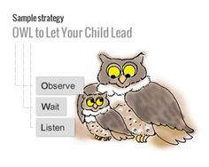 OWLing is a key Hanen strategy from It Takes Two to Talk - The Hanen Program for Parents of Children with Language Delays