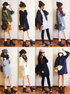こんにちは! 昨日はたくさんのコメントありがとうございました😭💕 返信前にすみません🙏 ゆっく Japan Fashion, Kpop Fashion, Cute Fashion, Korean Fashion, Girl Fashion, Winter Fashion Outfits, Fall Outfits, Girly Outfits, Cute Outfits
