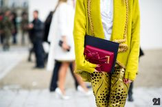 This is my idea of fall fashion, happy, electrifying and bright.