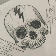Lightning bolt skull