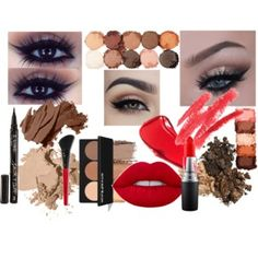 Matilda Larsens moodboard för afton makeup 2