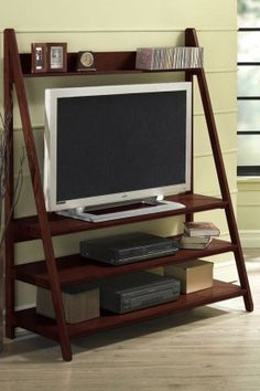 "Torrence Widescreen TV Stand - 53"" wide; could work with 51"" tv and allow for sound bar at bottom #HomeDecorators $488"