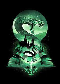 Casas Do Harry Potter, Tatto Harry Potter, Magia Harry Potter, Harry Potter Poster, Harry Potter Artwork, Slytherin Harry Potter, Theme Harry Potter, Harry Potter Drawings, Harry Potter Tumblr