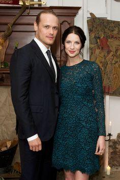 Sam & Cait at Outlander London premiere ~ via farfarawaysite