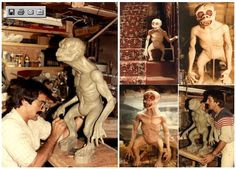"Making process of creature in tales from the darkside - ""inside the closet"". Tom Savini"
