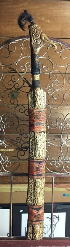 Museum Quality Antique Mandau Dyak Borneo Head Hunter's Sword and Knife | eBay