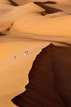 Tuaregs on Ubari desert, Libya