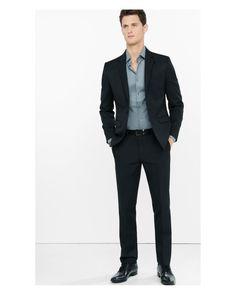 Express | Black Wool Blend Extra Slim Innovator Suit Pant for Men | Lyst