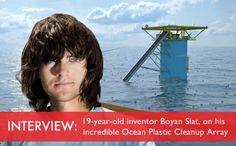 Boyan Slat, Boyan Slat array, cleaning plastic, cleaning trash, crowd sourcing ocean array, Crowdfunding, crowdfunding ocean array, garbage ...