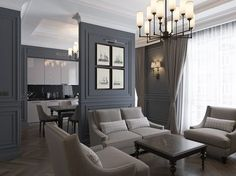 Ideas for living room classic interior colour Modern Room, Curtains Living Room, Apartment Design, Apartment Interior, Living Room Modern, Apartment Living Room, Trendy Living Rooms, House Interior, Living Room Inspiration