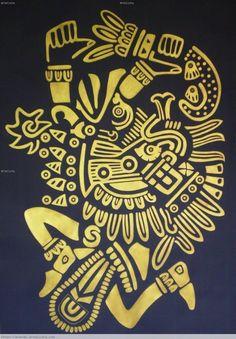 dioses mayas imagenes | Quetzalcoatl, serpiente emplumada, Dios del viento Paper Acrylic ...