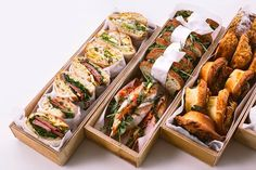 See more ideas about sandwich catering, lunch catering near me and party fo Sandwich Bar, Sandwich Catering, Sandwich Shops, Lunch Catering, Sandwich Packaging, Food Packaging, Food Truck, Good Food, Yummy Food