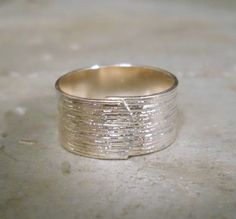 Brushed Ring in Silver by shoresidechic on Etsy