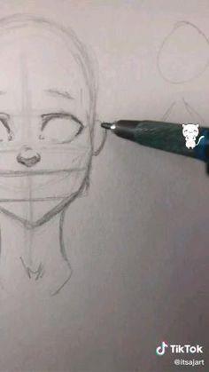 Art Drawings Sketches Simple, Pencil Art Drawings, How To Sketch Faces, Easy Drawings, Body Drawing Tutorial, Sketches Tutorial, Drawing Body Poses, Drawing Tips, Human Anatomy Drawing