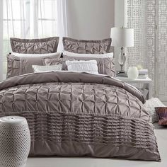 shopinside.com.au - Francesca Taupe Quilt Cover & Accessories