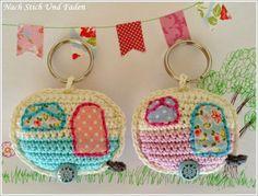 mirigurumi: Retro Caravan Keyring - Free Crochet Pattern by...
