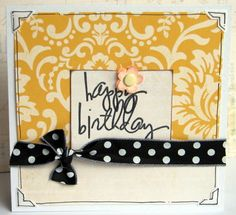 birthday card love the yellow and black